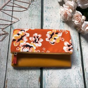 Rachel Pally floral purse reversible orange yellow